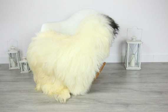Icelandic Sheepskin | Real Sheepskin Rug | | Large Sheepskin Rug Ivory | Fur Rug | Homedecor | Sheepskin Throw | Long fur #colisl2