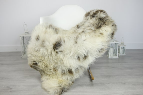 Real Sheepskin Rug Shaggy Rug Chair Cover Sheepskin Throw Sheep Skin Brown Sheepskin Home Decor Rugs #7her38