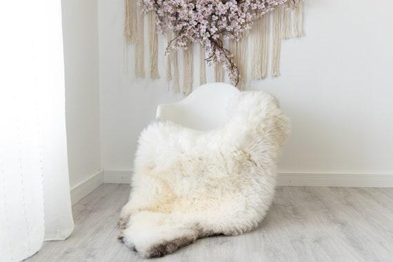 Real Sheepskin Rug Shaggy Rug Chair Cover Scandinavian Home Sheepskin Throw Sheep Skin Ivory Brown Sheepskin Home Decor Rugs #herdwik203