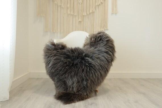 Real Sheepskin Rug Shaggy Rug Chair Cover Scandinavian Home Sheepskin Throw Sheep Skin Brown Gray Sheepskin Home Decor Rugs #herdwik349