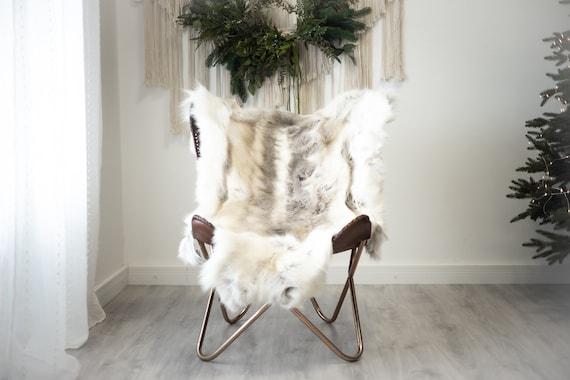 Reindeer Hide   Reindeer Rug   Reindeer Skin   Throw XXL EXTRA LARGE - Scandinavian Style Christmas Decor Brown White Hide #Reindeer97