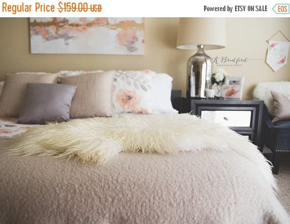 ON SALE Exclusive Genuine Mongolian Sheepskin Rug, Pelt, Chair Cover, Throw Scandinavian Style XXL Extra Large  Curly Fur