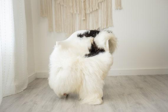 Real Icelandic Sheepskin Rug Scandinavian Home Decor Sofa Sheepskin throw Chair Cover Natural Sheep Skin Rugs Ivory fur #Iceland516