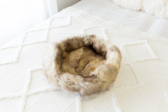 Sheepskin Cat Bed Or Dog Bed Cat Cave Unique Pet Bed Cat House Pet Furniture Hand Made With Genuine Real Sheepskin XXL Extra Large #Bed28