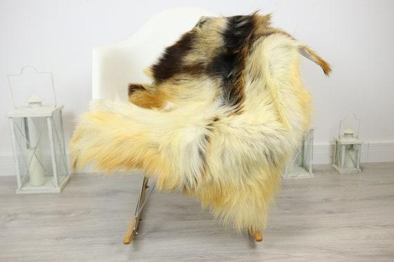 Natural real Goatskin rug, Goat Hide Goat Rug Ivory #Goat33
