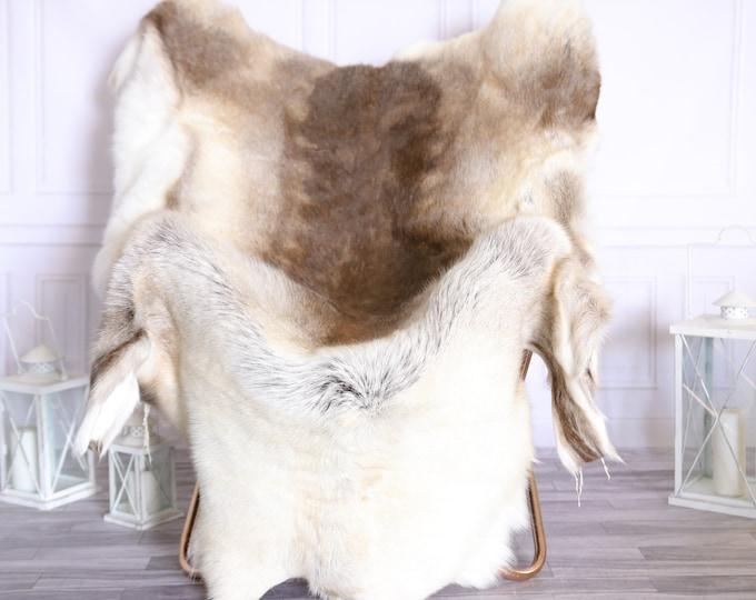 Reindeer Hide | Reindeer Rug | Reindeer Skin | Throw XXXL GIANT  - Scandinavian Style #22RE1