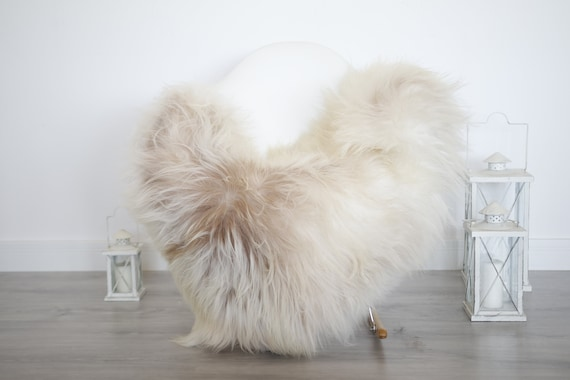 Real Icelandic Sheepskin Rug Scandinavian Decor Sofa Sheepskin throw Chair Cover Natural Sheep Skin Rugs Beige Blanket Fur Rug #isleb26
