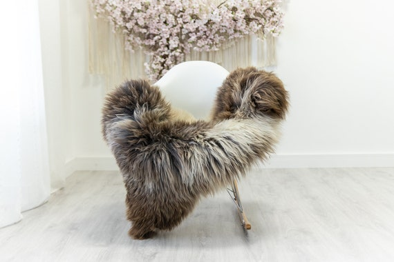 Real Sheepskin Merino Rug Shaggy Rug Chair Cover Sheepskin Throw Sheep Skin Sheepskin Home Decor Rugs Blanket Ivory Brown #herdwik177