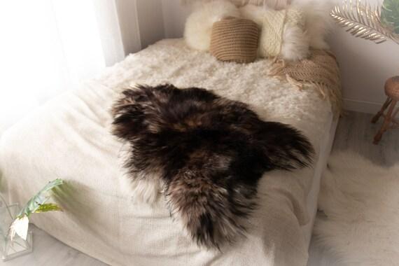Real Icelandic Sheepskin Rug Scandinavian Decor Sofa Sheepskin throw Chair Cover Natural Sheep Skin Rugs Black Brown Blanket Fur Rug#Miesz14