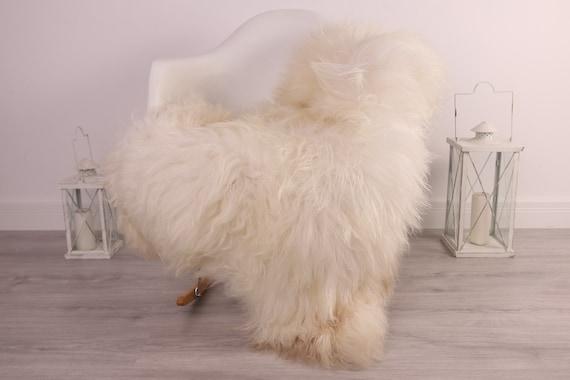 Real Icelandic Sheepskin Rug Scandinavian Decor Sofa Sheepskin throw Chair Cover Natural Sheep Skin Rugs Beige Blanket Fur Rug #Am1