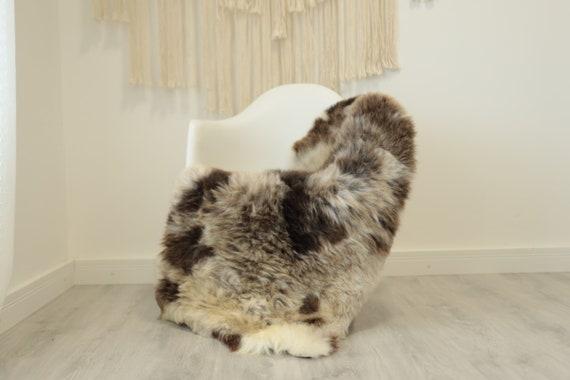 Real Sheepskin Rug Shaggy Rug Chair Cover Scandinavian Home Sheepskin Throw Sheep Skin Ivory Brown Sheepskin Home Decor Rugs #herdwik342