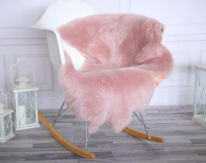 Genuine Natural Lilac Sheepskin Rug Sheepskin Throw  Scandinavian Style | Scandinavian Rug| Lilac Sheepskin