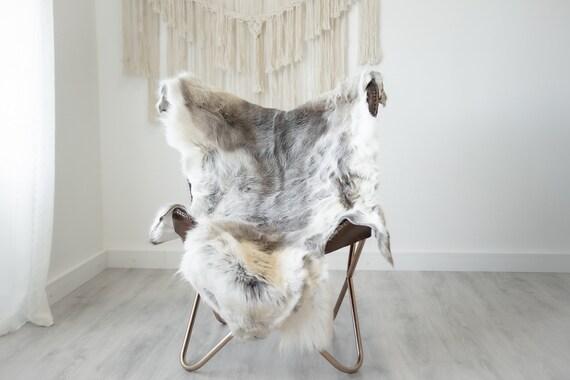 Reindeer Hide | Reindeer Rug | Reindeer Skin | Throw XXL EXTRA LARGE - Scandinavian Style Christmas Decor Brown White Hide #Reindeer87