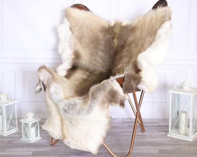 Reindeer Hide | Reindeer Rug | Reindeer Skin | Throw Large  - XXL EXTRA LARGE Scandinavian Style #22RE14