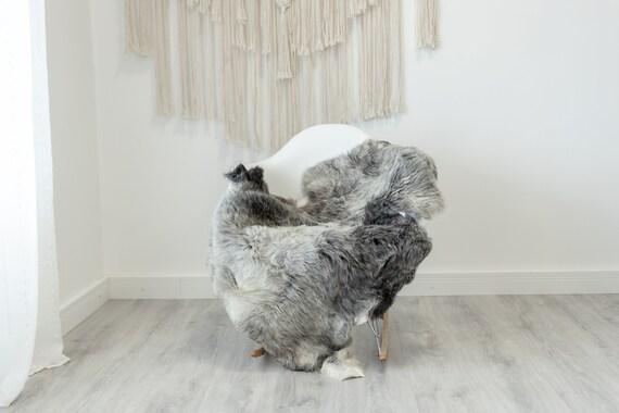 Real Sheepskin Rug Shaggy Rug Chair Cover Scandinavian Home Sheepskin Throw Sheep Skin White Gray Sheepskin Home Decor Rugs #Gut56