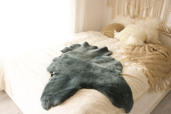 Real Sheepskin Rug Shaggy Rug Chair Cover Sheepskin Throw Sheep Skin Gray Sheepskin Scandinavian Home Decor Rugs #Roz7