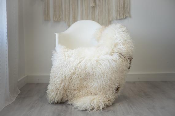 Real Sheepskin Rug Genuine Rare Gotland Sheepskin Rus - Curly Fur Rug Scandinavian Sheep skin - Gray Sheepskin #G46