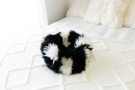 Sheepskin Cat Bed Or Dog Bed Cat Cave Unique Pet Bed Cat House Pet Furniture Hand Made With Genuine Real Sheepskin XXL Extra Large #Bed11