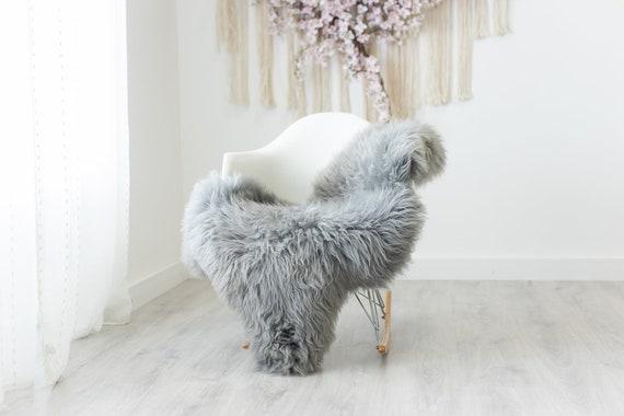 Real Sheepskin Rug Shaggy Rug Chair Cover Scandinavian Home Sheepskin Throw Sheep Skin Gray Sheepskin Home Decor Rugs #herdwik243
