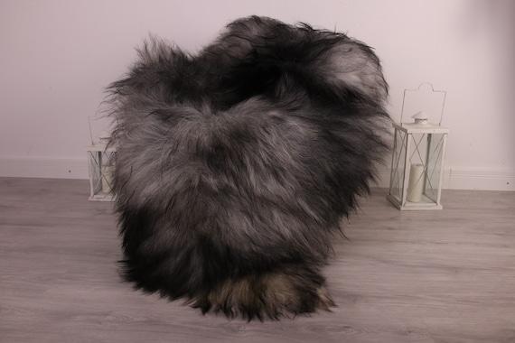 Real Icelandic Sheepskin Rug Scandinavian Decor Sofa Sheepskin throw Chair Cover Natural Sheep Skin Rugs Gray White Fur Rug #kefisl25