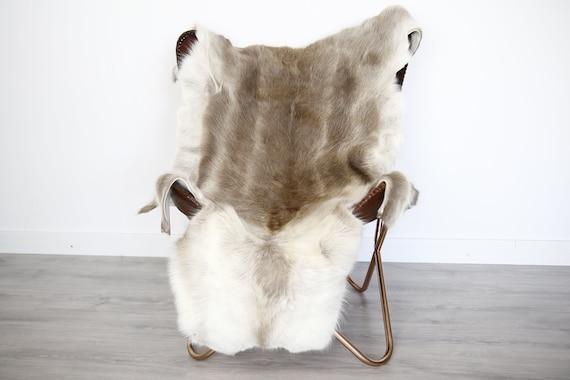 Reindeer Hide | Reindeer Rug | Reindeer Skin | Throw XXL EXTRA LARGE - Scandinavian Style Christmas Decor Brown Hide #Ire12
