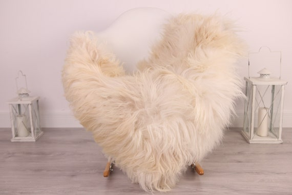 Real Icelandic Sheepskin Rug Scandinavian Decor Sofa Sheepskin throw Chair Cover Natural Sheep Skin Rugs Beige White Blanket Fur Rug #Am35