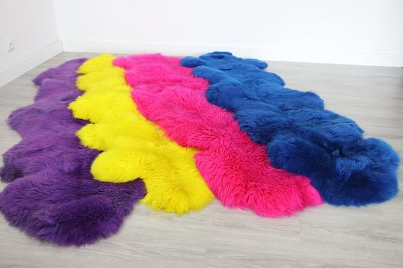 Real Sheepskin Rug Scandinavian Decor Sofa Sheepskin throw Chair Cover Natural Sheep Skin Rugs Blanket Fur Rug Dyed Merino Sheep skin