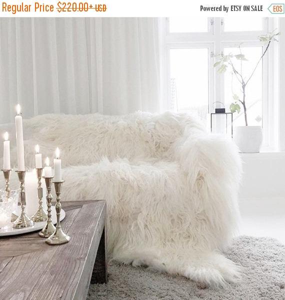 Merveilleux ON SALE Genuine Natural Icelandic Throw Blanket | Sheepskin Rug | White Bed  Throw | Sheepskin Bed Throw | Shaggy Bed Throw | Icelandic Thro