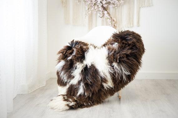 Real Sheepskin Rug Shaggy Rug Chair Cover Scandinavian Home Sheepskin Throw Sheep Skin White Brown Sheepskin Home Decor Rugs #herdwik268