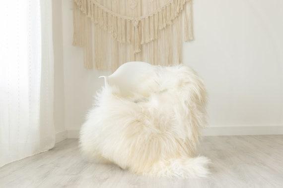 Real Icelandic Sheepskin Rug Scandinavian Decor Sofa Sheepskin throw Chair Cover Natural Sheep Skin Rugs Ivory Gray #Iceland385