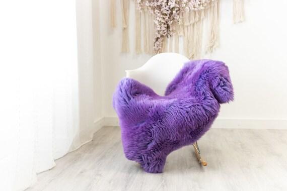 Real Sheepskin Merino Rug Shaggy Rug Chair Cover Sheepskin Throw Sheep Skin Sheepskin Home Decor Rugs Blanket Purple #herdwik94