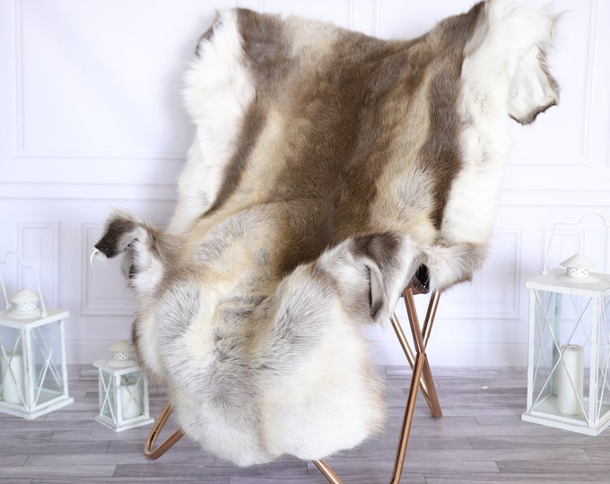 Reindeer Hide | Reindeer Rug | Reindeer Skin | Throw Large  -XXL EXTRA LARGE Scandinavian Style #22RE19