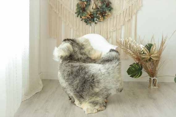 Real Sheepskin Rug Shaggy Rug Chair Cover Sheepskin Throw Sheep Skin Gray Ivory Sheepskin Home Decor Rugs #Gut4