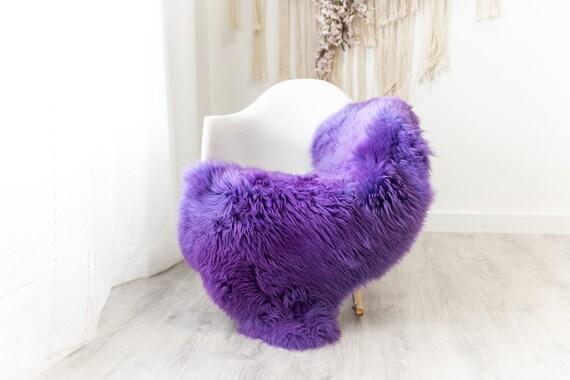Real Sheepskin Merino Rug Shaggy Rug Chair Cover Sheepskin Throw Sheep Skin Sheepskin Home Decor Rugs Blanket Purple #herdwik96