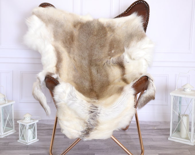 Reindeer Hide | Reindeer Rug | Reindeer Skin | Throw Large  - XXL LARGE Scandinavian Style #22RE15