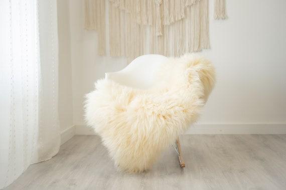 Real Sheepskin Rug Shaggy Rug Chair Cover Scandinavian Home Sheepskin Throw Sheep Skin Ivory Sheepskin Home Decor Rugs #herdwik325
