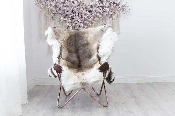 Reindeer Hide | Reindeer Rug | Reindeer Skin | Throw  - Scandinavian Style Christmas Decor Brown White Hide #Reindeer48