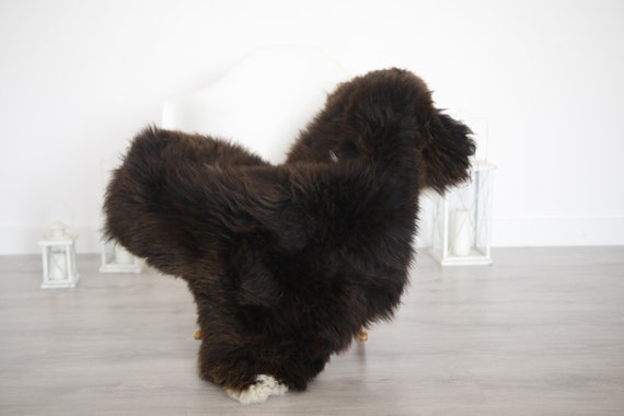 Real Sheepskin Rug Shaggy Rug Chair Cover Sheepskin Throw Sheep Skin Brown Sheepskin Home Decor Rugs #6her37