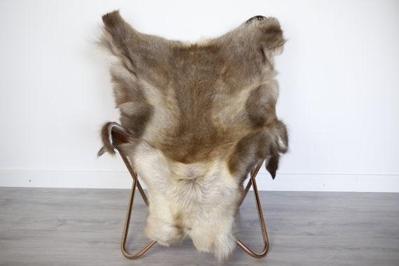 Reindeer Hide | Reindeer Rug | Reindeer Skin | Throw XXL EXTRA LARGE - Scandinavian Style Christmas Decor Brown Hide #Ire1