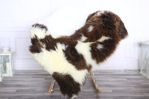 Sheepskin Rug | Real Sheepskin Rug | Shaggy Rug | Sheepskin Throw | Sheepskin Rug White Brown | Chirtmas Home Decor | #1HER42