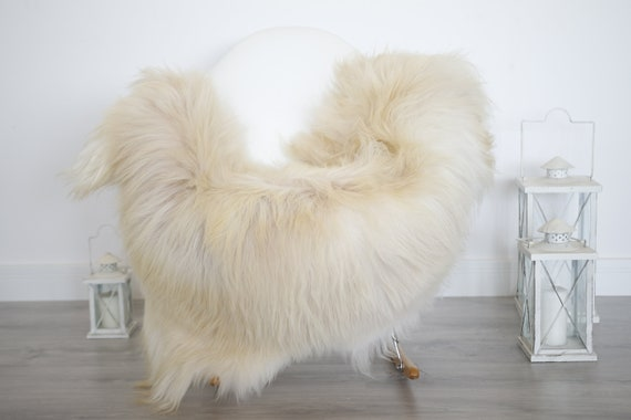 Real Icelandic Sheepskin Rug Scandinavian Decor Sofa Sheepskin throw Chair Cover Natural Sheep Skin Rugs Beige Blanket Fur Rug #isleb30