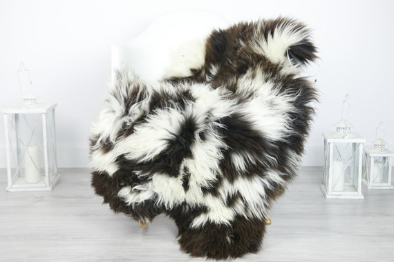 Real Sheepskin Rug Shaggy Rug Chair Cover Sheepskin Throw Sheep Skin Brown Sheepskin Home Decor Rugs #7her19