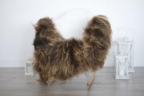 Real Icelandic Sheepskin Rug Scandinavian Decor Sofa Sheepskin throw Chair Cover Natural Sheep Skin Rugs Brown Blanket Fur Rug #isleb11