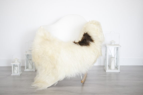 Real Sheepskin Rug Shaggy Rug Chair Cover Sheepskin Throw Sheep Skin Brown White Sheepskin Home Decor Rugs #6her32