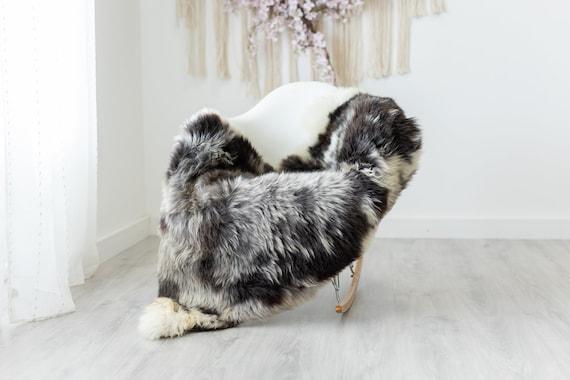 Real Sheepskin Rug Shaggy Rug Chair Cover Scandinavian Home Sheepskin Throw Sheep Skin Brown Gray Sheepskin Home Decor Rugs #herdwik231