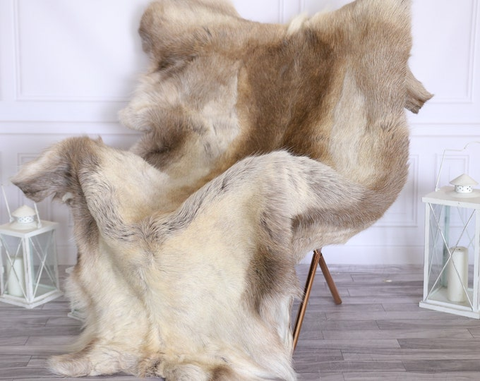 Reindeer Hide | Reindeer Rug | Reindeer Skin | Throw Large  - XXXL GIANT Scandinavian Style #22RE16