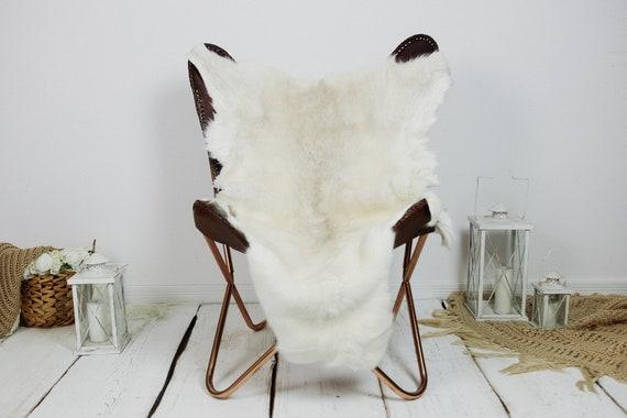 Reindeer Hide | Reindeer Rug | Reindeer Skin | Throw XXL EXTRA LARGE - Scandinavian Style Christmas Decor Brown White Hide #Kre28