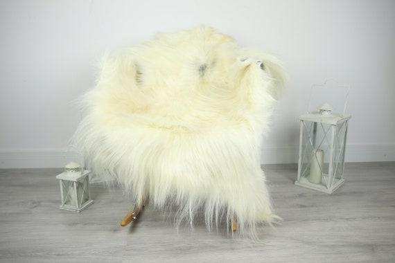 Natural real Goatskin rug, Goat Hide Goat Rug Ivory Goat #Goat8