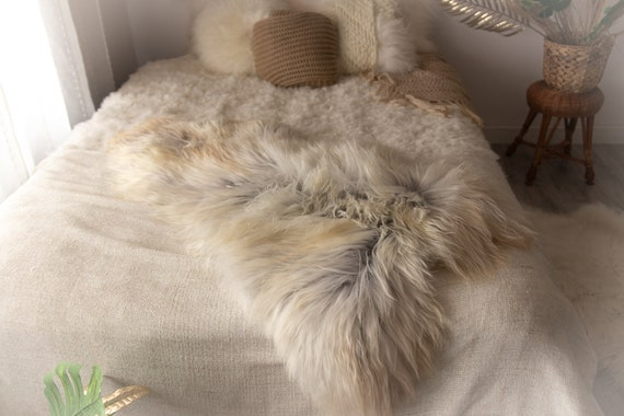Real Icelandic Sheepskin Rug Scandinavian Decor Sofa Sheepskin throw Chair Cover Natural Sheep Skin Rugs Ivory Gray Blanket Fur Rug #Miesz6