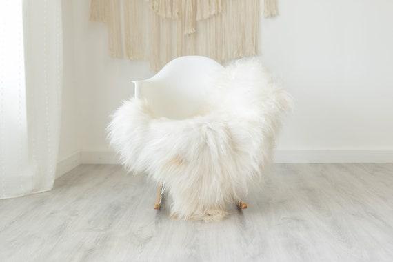 Real Icelandic Sheepskin Rug Scandinavian Decor Sofa Sheepskin throw Chair Cover Natural Sheep Skin Rugs White Ivory #Iceland370